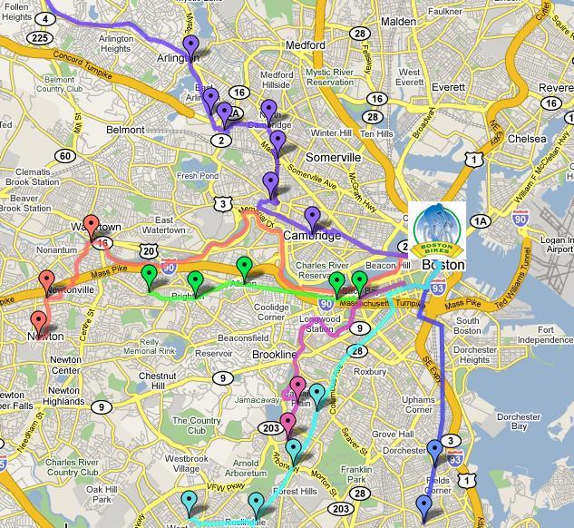 bike convoy map