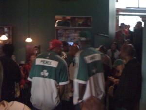 Pierce and Garnett in the Bleacher Bar